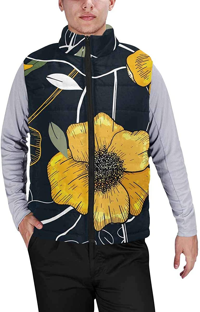 InterestPrint Men's Lightweight Vest Softshell for Camp Mehndi Ethnic Colorful