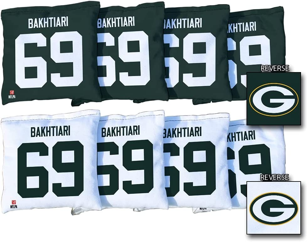 Victory Tailgate David Bakhtiari Free shipping anywhere in the nation Green Packers Large special price Regul Bay 8-Piece