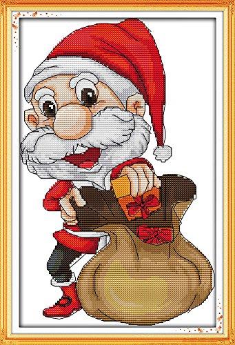 benway Kit point de croix compté Motif Père Noël Père Noël de 14 x 24 x 37 cm