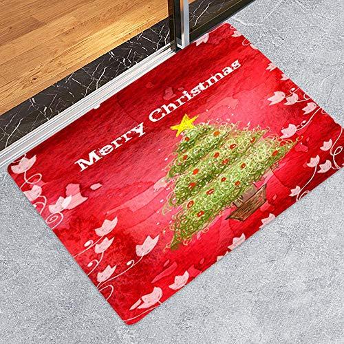 Ansenesna Weihnachten Deko Fußmatten Zum Bemalen Weihnachtsmann Weihnachtsbaum Drucken Teppiche Christmas Decoration 40x60CM