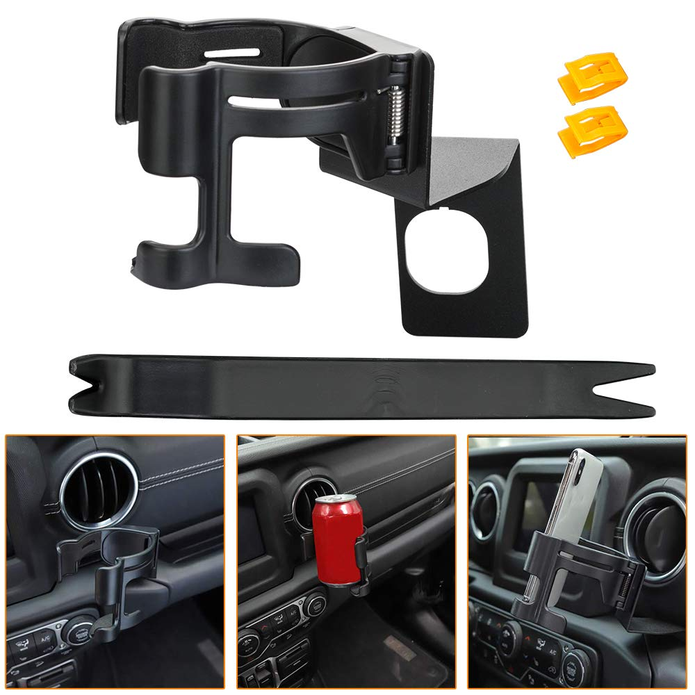 fits for 2020 Jeep Gladiator Trunk JT CheroCar JL Metal Cellphone Dash Phone Holder fits for 2018-2020 Jeep Wrangler JL Interior Accessories