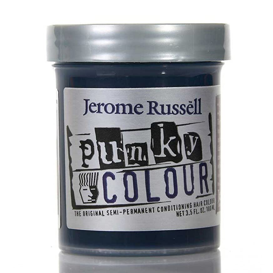 今までペースマチュピチュJEROME RUSSELL Punky Color Semi-Permanent Conditioning Hair Color - Midnight Blue (並行輸入品)