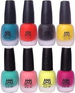 Makeup Mania Premium Nail Polish Set, Velvet Matte Nail Paint Combo of 8 Pcs, Perfect Gift for Girls and Women (Set No. 20-65), Multicolor, 600 g