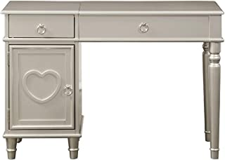 Major-Q Pxf4178 Silver Finish Flip up Mirror Wooden Vanity Set with Stool