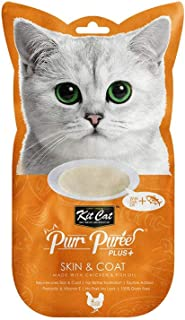 Kit-Cat Purr Puree Plus Skin & Coat Chicken 4x15g