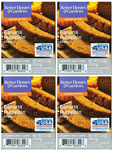 Better Homes and Gardens Banana Pumpkin Bread Scented Wax Cubes - 4-Pack