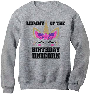 Tstars Mommy of The Birthday Unicorn Party Matching Family Mom Women Sweatshirt