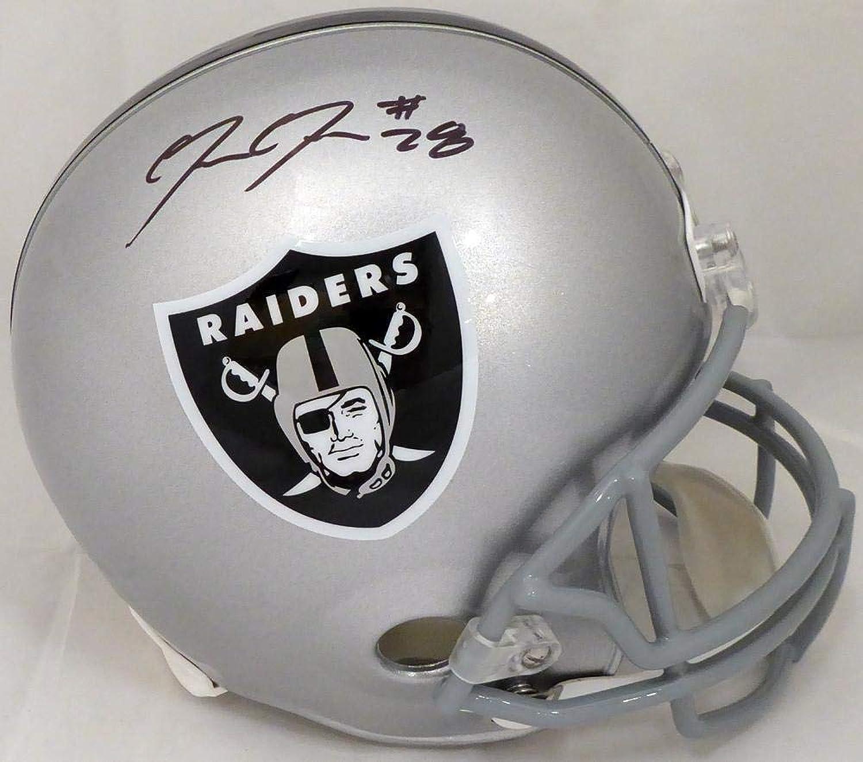 Josh Jacobs Autographed Helmet  Full Size Replica Beckett BAS Stock  150466  Beckett Authentication