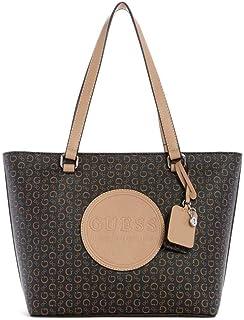 حقيبة يد نسائية تحمل شعار ثورنتون من جيس فاكتوري، مصنوعة من الجلد - بني