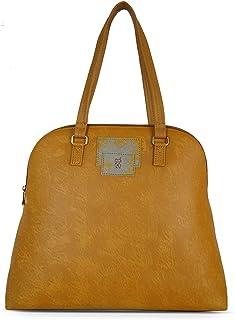Baggit Autumn-Winter 2021 Faux Leather Women's Bowling Handbag (Yellow) (Wyoming1)