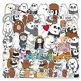 TTBH Bears Stickers Crtoon Cute Little Bear Sticker PVC Waterproof Graffiti Sticker For Laptop Luggage107 Pcs/Set