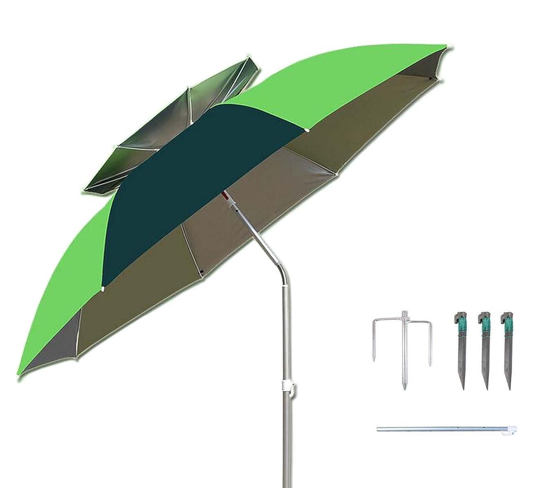 自分を引き上げる軽量隣人パラソル チルト機能付 角度調節 折り畳み式 シルバーコーティング UVカット コンパクト収納 フィッシングパラソル ガーデンパラソル