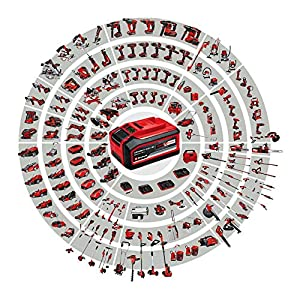 Einhell Akku Heckenschere GE-CH 1846 Li Set Power X-Change (Lithium Ionen, 18 V, 460 mm Schnittlänge, 15 mm Zahnabstand, inkl. 2,0 Ah Akku und Ladegerät)