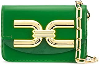 Luxury Fashion | Elisabetta Franchi Womens BS47A02E2V24 Green Shoulder Bag |