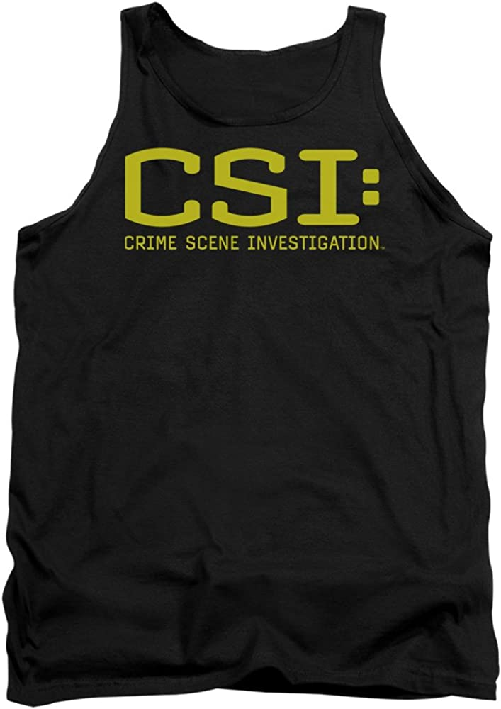 CSI shop Logo Officially Licensed Tank Ranking TOP1 Top Black Adult