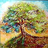 N / A ysyxin Kit de Pintura Árbol Abstracto Pintar por Numeros para Adultos Niños Pintura por Números Decoraciones para el Hogar-16 x 20 Pulgadas Sin Marco