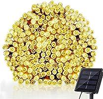 Lichtsnoeren voor buiten, NEXVIN 20M 200 LED Solar Lichtsnoer Buiten, 8 modi, IP65 waterdicht lichtketting buiten...