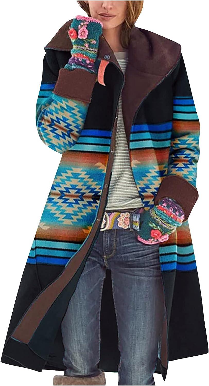 Women Cardigan Jackets Long Sleeve Graphic Coat Button Down Casual Long Womens Sweatshirt Loose Sweater Thick Outwear