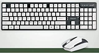 Suspended Chocolate 2.4G Wireless Mouse Keyboard Set Desktop Laptop Office (Color : Gray)