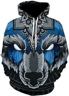 HOSD Space Galaxy Wolf Hoodie Hoodies Men Women 2019 Spring Autumn Pullovers Sweatshirts Sweat 3D Tracksuit