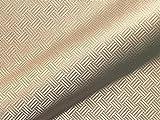 Tela para Muebles Resistente al Fuego Sao Paulo FR, diseño Abstracto, Color Beige como Tela de tapicería Robusta, Tejido Acolchado Estampado para Coser y relacionar, poliéster FR