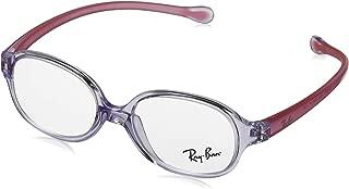 RAYBAN JUNIOR 儿童 1587 0RY 1587 3765 43 矩形光学镜架 43,透明浅紫色
