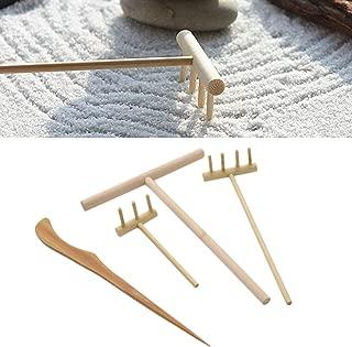 lychee Mini Bamboo Zen Garden Tool Rake Sand Rock Push Drawing Pen Set Desktop Decor Accessories