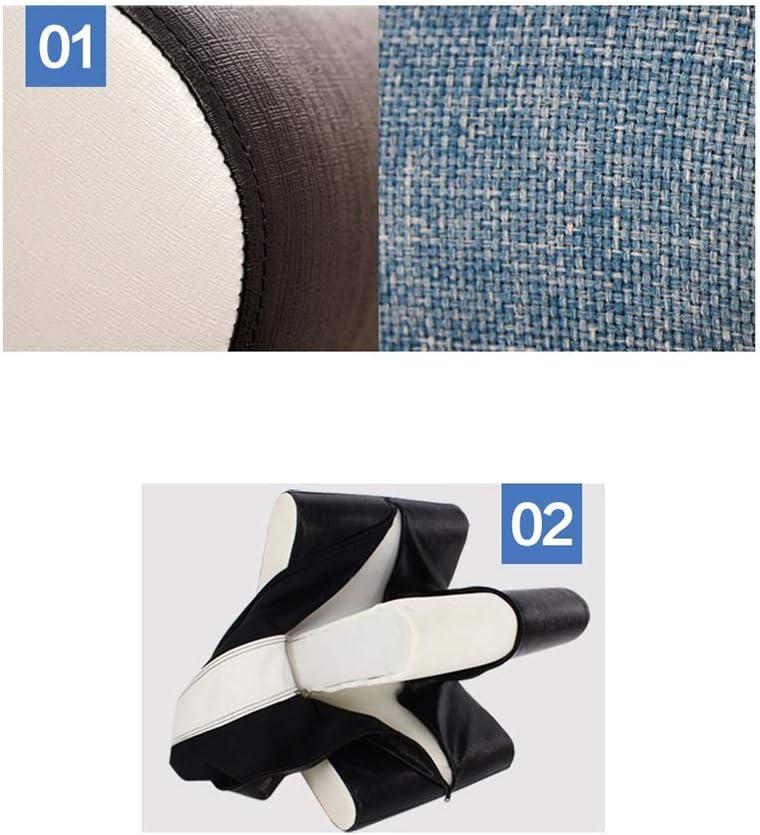 LGQ-LIFE Pouf en Lin avec Repose-Pieds, Chaise De Coussin en Tissu for Chaussures, Convient Aux Chaussures, Canapé, Salon, Couloir, Coin (Color : A) E