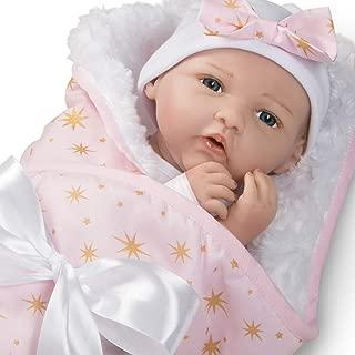 Paradise Galleries Reborn Baby Doll in Silicone Vinyl, 19 inch Newborn Girl Baby Bundles: Born to Sparkle, 7-Piece Ensemble