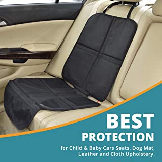 Child Car Seat Protector, Includes Storege Pockets, Dog Mat, Non Slip and Water Proof Protection, Durable Premium Materials, 100% Satisfaction Guarantee.