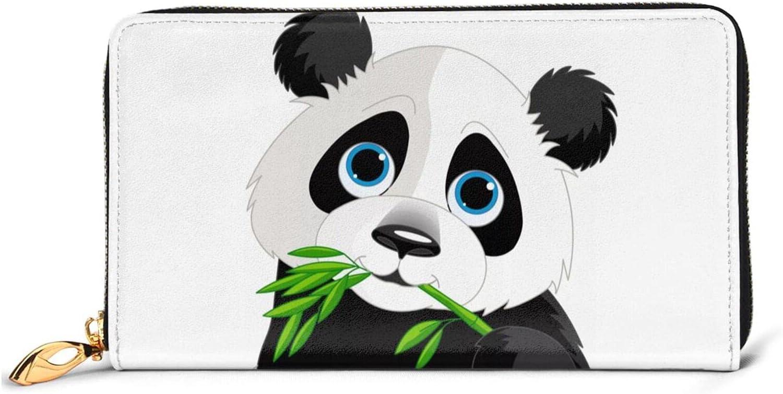 Cute Panda Leather Wallet Women Long Max 67% OFF Clutch Around Purse security Bag Zip