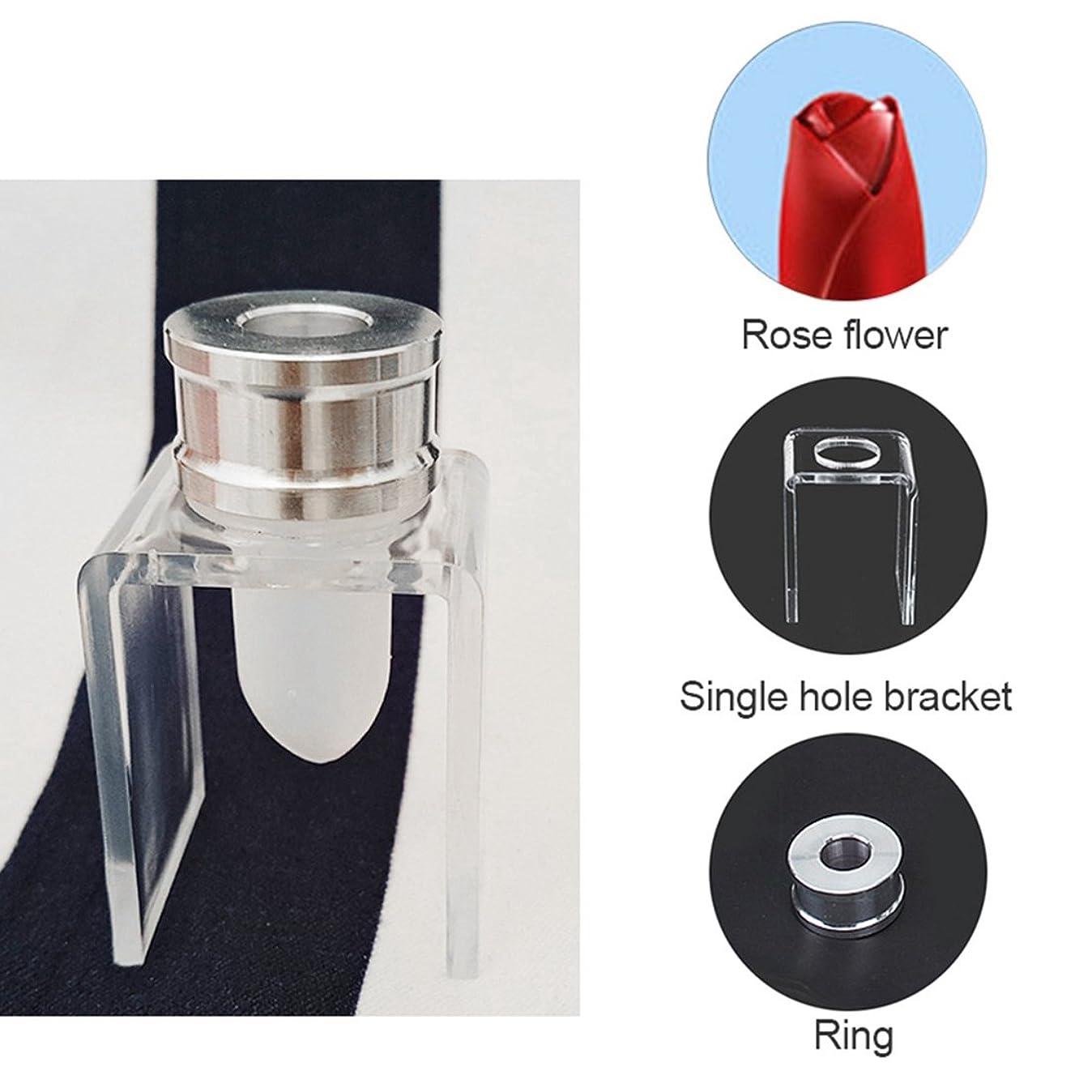 ギャップロゴテンポSODIAL 3セット DIY 12.1mm シンプルな口紅の充填チューブ シリコーン金型 アルミリング シングルホールブラケット 手作りの口紅ツール シンプルなセット バラ
