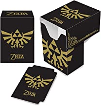 Ultra PRO Legend of Zelda - Hyrule Crest Full-View Deck Box (Black & Gold)