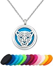 EV.YI Jewels Lucky Elephant Horse Owl Animals Essential Oil Diffuser Necklace Aromatherapy Perfume Necklace Locket Pendant for Women Girl Men
