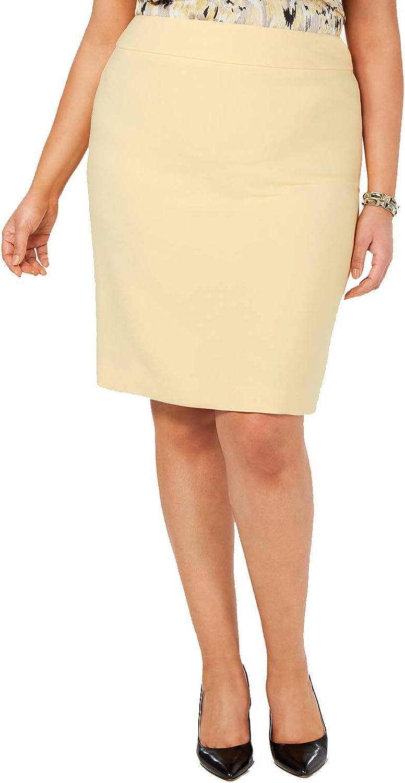 Kasper Womens Plus Knit Business Pencil Skirt
