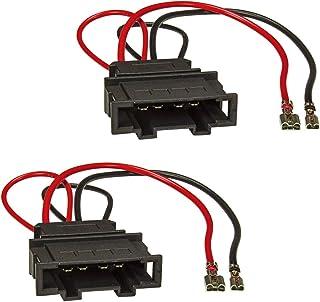 tomzz Audio 7157-000 Luidsprekeradapter (set van 2) naar DIN compatibel met VW Golf 4 5 6 7 Kever EOS Touran Passat Polo U...