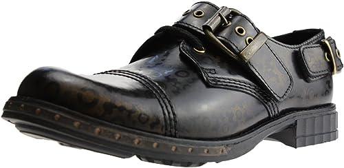 bottes braces - 3 trous & steampunk gear brass délavé avec boucle