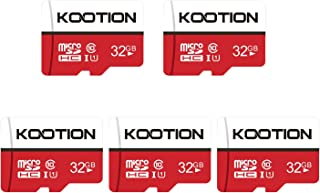 KOOTION Carte SD 32 Go Lot de 5 Carte Memoire UHS-I Vitesse jusqu'à 85 m/s,TF Micro SDHC, Micro SD Classe 10, U1 pour Tabl...