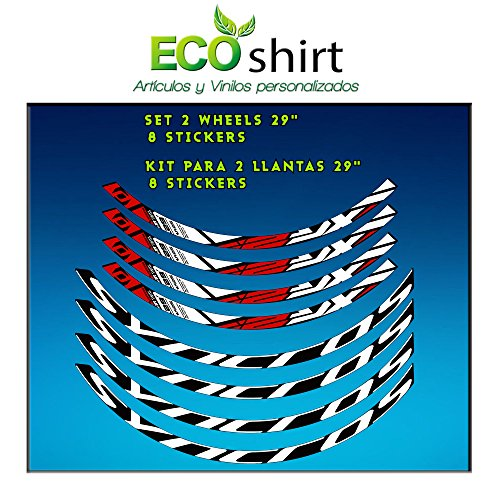 Ecoshirt 7V-0EWD-DE7X Pegatinas Stickers Llanta Rim DT Swiss Syncross Xr25 29