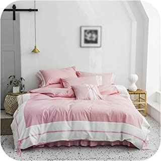 100% Cotton White Gray Shabby Patchwork Duvet Cover Bedding Set 4/6Pieces Ultra Soft Comforter Cover Bed Sheet Pillow Shams,Color 5,Queen Size 6Pieces,Flat Bed Sheet