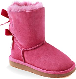 OZWEAR UGG Kids 2 Ribbon Boots (Water Resistant) 3 Colours OB085