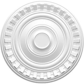 MARDOM DECOR Decken Rosette I B3029 I Moderne Stuckrosette Deckenrosette Wandrosette Zierelemente I /Ø 38,0 cm x 7,5 cm