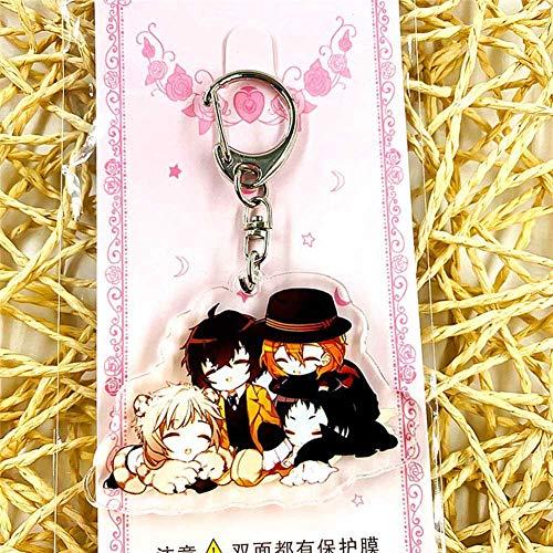SGOT Porte-clés Anime Bungo Stray Dogs - Double face - Acrylique - Accessoire de dessin animé - 6 cm (H16)
