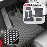 AUTAILORS 5-Seat Tesla Model Y Floor Mats for 2020-All Weather Floor Mats Waterproof Lightweight and Odorless Made in USA-8pcs in Normal