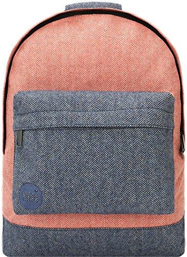 Mi-Pac Herringbone Mix Backpack Casual Daypack, 41 cm, 17 L - Terracotta/Navy