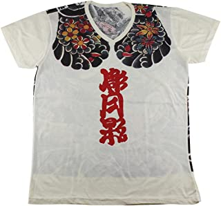 Work Japan Irezumi Tattoo Samurai Bushido T-Shirt White / WK105 Size XL