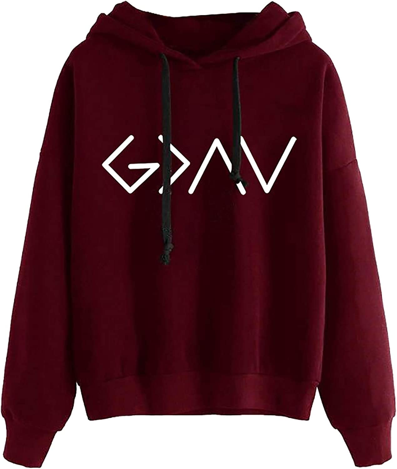 Sweatshirts for Women, Womens Long Sleeve Cute Graphic Hoodie and Sweatshirt Casual Loose Pullover Tops Sweaters