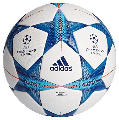 Adidas Fin15OMB - Balón de fútbol, Color Blanco/Azul, tamaño 5