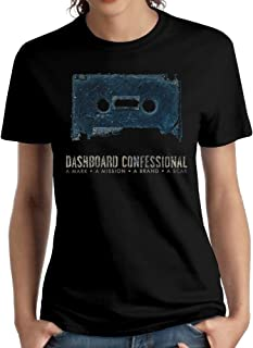 Woman Dashboard Confessional A Mark,A Mission,A Brand,A Scar Classic Short Sleeve Top Tee Girls Fashion T-Shirts Black