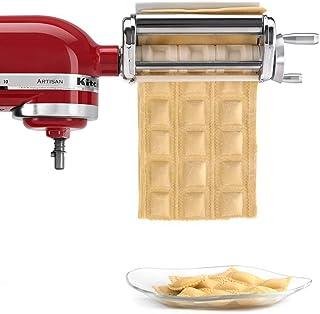 KRAV Ravioli Maker Attachment Tool Chef for Kitchenaid Stand Mixers Household Steel Stainless Kitchen Machine Attachment